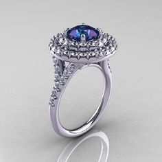 Tiffany Soleste Style 14K White Gold 1.0 Ct by artmasters on Etsy, $2199.00