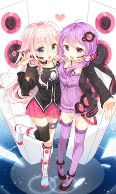 IA and Yuzuki Yukari. They are so cute. I want them