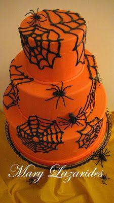 Pink Little Cake: Halloween Series... Day 25 SugarVeil Spider Web Cake