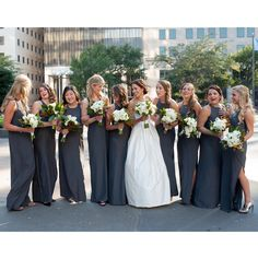 Pretty Dark Gray Long Dresses