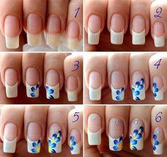 Beginner Nail Designs Ideas easy nail art designs for beginners step step Beginner Nail Designs. Here is Beginner Nail Designs Ideas for you. Beginner Nail Designs easy toenail art designs to do at home aplikasi cepat. Floral Nail Art, Nail Art Diy, Easy Nail Art, Cool Nail Art, Diy Nails, Nail Nail, Glitter Nails, Nail Polish, Acrylic Nail Designs