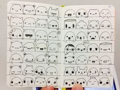 Bullet Journal Art, Bullet Journal Ideas Pages, Bullet Journal Inspiration, Cute Doodle Art, Doodle Art Drawing, Kawaii Doodles, Cute Doodles, Kawaii Drawings, Easy Drawings