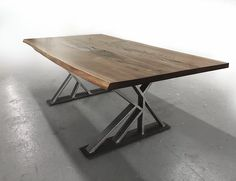 Coffee table furniture made from reclaimed wood, fallen trees, salvage art, recycled furniture, green,