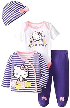 Hello Kitty Baby Girls' 4 Piece Set, Multi, 9 Months