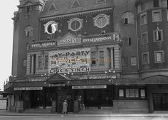 The Finsbury Park Empire during the run of 'Gay Party' in 1929 North London, Old London, Old Photos, Vintage Photos, Enfield Middlesex, London Pride, Finsbury Park, London History, London Theatre