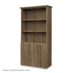 Pimlico Walnut Laminate Bookcase with Storage. Product Features: Product Features Four adjustable/removable shelves Metal hanger rod. 7027 Walnut Finish, 7020 Mocha Finish also available