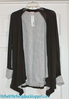Stitch Fix #5 ~ Teacher Style - Potina Checkered Lining Cardigan. It's the little things...blog