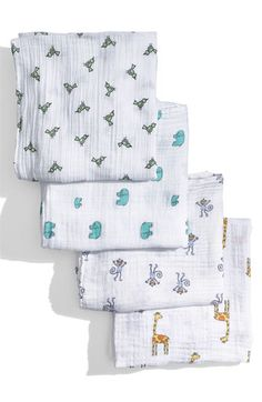 aden + anais Swaddling Cloths (4-Pack) available at #Nordstrom. The bird blanket in this set is what was used to swaddle Prince George, as Prince Willam carried him to the car as they left the hospital.