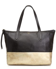 Fossil Sydney Leather Shopper - Fossil - Handbags & Accessories - Macy's