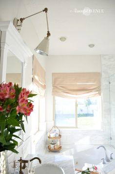 Bathroom Designs One Room Challenge Bright White Master Bathroom Final Floor Lamp Mirror Sink Final Touches of Bathroom