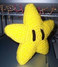 Mario Invincibility Star plushie (with free crochet pattern)
