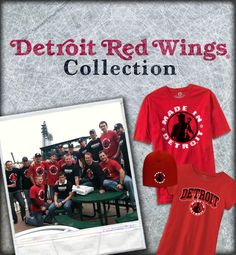 Hockey is Back! Check out our Detroit Red Wings Collection:  http://www.madeindetroit.com/collections/detroit-red-wings