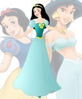 disney fusion: Jasmine and Snow White by Willemijn1991