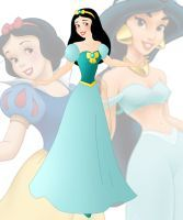 disney fusion: Jasmine and Snow White by Willemijn1991