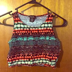 Cute crop top Very cute comfortable crop top would look great with some black leggings or some high waisted shorts. Cute Aztec pattern Rue 21 Tops Crop Tops