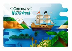 Greetings from Neverland on Behance