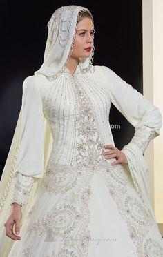 Элегантный-дубай-новый-дизайн-с-длинным-рукавом-бисероплетение-органзы-мусульманские-свадебные-хиджаб-свадебное-платье-свадебные-платья.jpg (948×1500)