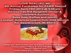 Spagetti Dinner 2013 Paws Rescue, Spaghetti Dinner, Collage Maker, Bake Sale, Photo Editor, Fundraising, Baking, Food, Bakken