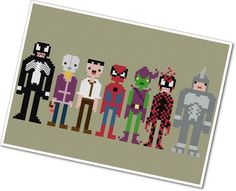 Pixel People SpiderMan & Villains PDF by weelittlestitches, $7.00