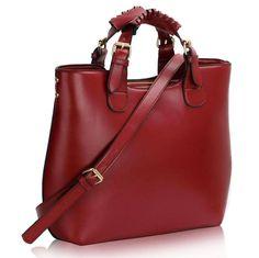 High School Pictures, Leather Fashion, Tote Handbags, Fashion Bags, Designer Handbags, Bucket Bag, Satchel, Burgundy, Purses