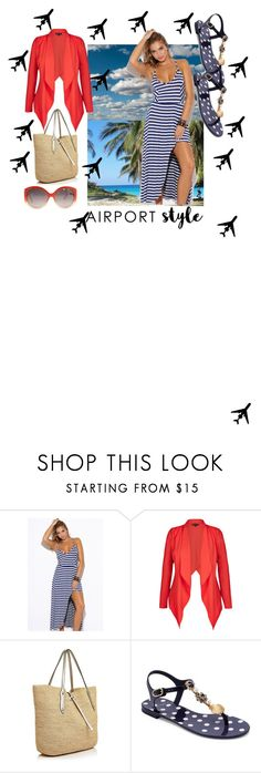 """""""Its not the flight. Its the destination. Weekend getaway."""" by vivi33a ❤ liked on Polyvore featuring City Chic, Annabel Ingall, Dolce&Gabbana, Christian Dior and plus size clothing"""