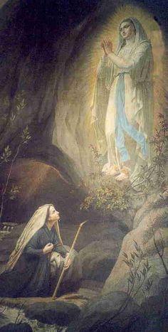 Apparition à Lourdes