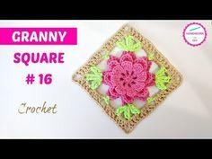 Gorgeous Flower Granny Square – Crochet Ideas