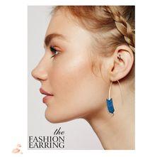 Natural Stone Geometry Shape Earrings Gold Plated Arrow Design Earrings For Women Jewelry 2017