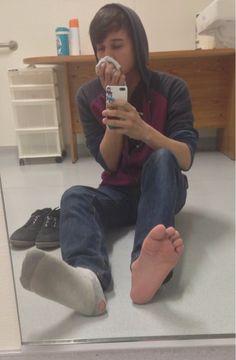 sniffing hot socks