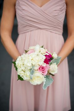 pink and white bouquet // photo by Rebekah Hoyt