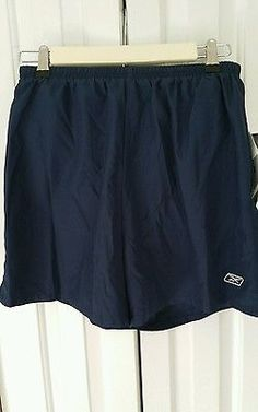 NWT Reebok Womens Navy Lined Running Shorts Medium