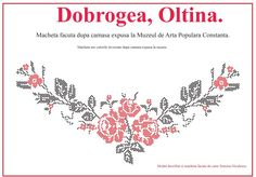 Camasa cu platca din Oltina, Dobrogea. Folk Embroidery, Projects To Try, Cross Stitch, Traditional, Blog, Handmade, Romania, Crosses, Knots