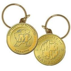 University of Maryland Bronze Coin Keychain