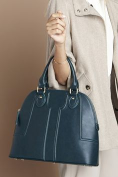Structured green dome satchel by Sole Society