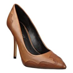 Boutique 9 pointy toe pump with western detailing at the heel and toe.  4 1/2 heel with 1/2 hidden platform.