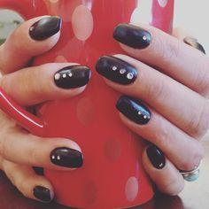 #getgeli matte black with rhinestones