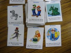 stuttering cards