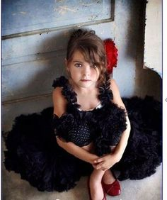 black tutu for the flowergirl!