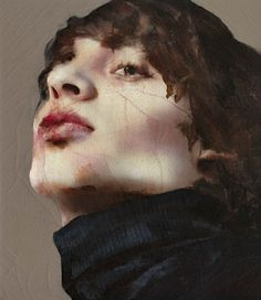 Lita Cabellut - Nureyev 02; mixed media on canvas; 150x130 cm