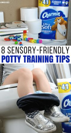 These 8 sensory-friendly potty training tips are life-changing for parents of kids with sensory processing disorder, autism, or any other strong sensory preferences! Save yourself a headache and lots of tears with these sensory-friendly potty training tips! #pottytraining #sensoryfriendly #sensory #sensoryparenting #sensoryprocessing #parentingtips #pottytrainingtips via @lemonlimeadv