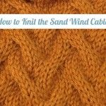 How to Knit the Sand Wind Cable Stitch/This cable pattern is a non traditional cable that gives an understated but all over textured look. This would be great for home decor items, bags or even for a cozy sweater. Knitting Stiches, Sweater Knitting Patterns, Crochet Stitches, Hand Knitting, Knit Patterns, Knitting For Dummies, Knitting Videos, Knitting Projects, Knitting Tutorials
