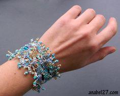"""Фриформ- браслет """"Из пены морской"""" (freeform bracelet)"""