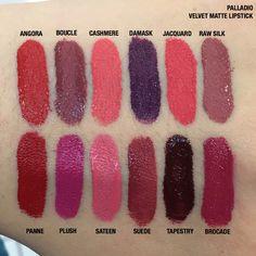 Palladio Velvet Matte liquid lipstick