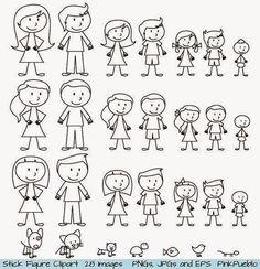 Superhero Stick Figure Clipart Clip Art, Stick Family Clipart Clip Art, Stick People Clipart Clip Art - Commercial and Personal Use Stick Figure Family, Stick Family, Machine Silhouette Portrait, Stick Figure Drawing, Stick Figure Tattoo, Image Clipart, Clip Art, Stick Figures, Photoshop Brushes