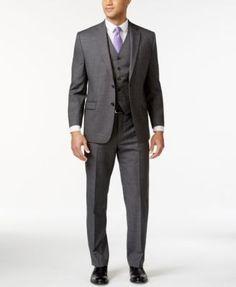 Lauren Ralph Lauren Grey Sharkskin Suit Separates   | macys.com