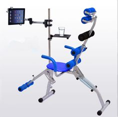 Multifunction Tablet PC Laptop Holder with Fitness Chairs Universal Aluminum Adjustable Height/Angle Lazy Floor Stand for iPad