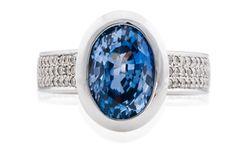 Oval-Ceylon-Sapphire Coloured Stone Rings, Ceylon Sapphire, Gemstone Colors, Wedding Rings, Jewels, Engagement Rings, Gemstones, Diamond, Enagement Rings