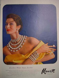 monet vogue 1956  http://www.illusionjewels.com