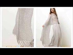 Ажурный шарф спицами - YouTube