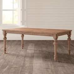 Birch Lane: Farmhouse & Traditional Furniture - Made to Last Counter Height Dining Table, Dining Table Legs, Extendable Dining Table, Dining Table In Kitchen, Table And Chairs, Dining Rooms, Diy Kitchen, Turned Table Legs, Solid Wood Dining Table